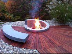 14 Fire Water Combo Pit Ideas Outdoor Fire Backyard Fire Fire Pit Backyard