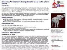 essay writing shooting an elephant an essay to teach jstor
