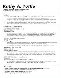 College Admissions Resume Samples Resume Template For College