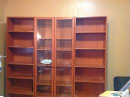 i started with the glass door unit i really haven t decided for sure what i want to do with the open bookshelves yet time will tell i guess