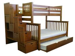 Bedz King Twin over Full Stairway Bunk Bed