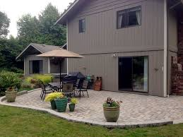 finished paver patio finished paver patio