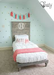 twin platform bed with headboard. Delighful Twin DIY Twin Platform Bed By Shanty2Chic With Headboard F