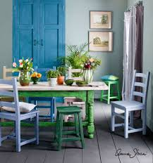 Blue Painted Dining Chairs - Dining room chairs blue