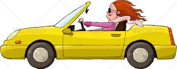 Image result for woman in cartoon car