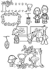 11月のおたよりイラストフリー素材まとめ②a4印刷用白黒 保育園