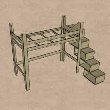 Im internet habe ich bisher nur kinderhochbetten gefunden aber keines für erwachsene personen welches auch so aufgebaut ist wie auf dem bild. Hochbett Bauen Bauanleitung Heimwerker De