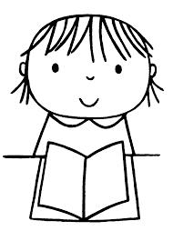 Kleurplaat Boek Lezen Okul öncesi