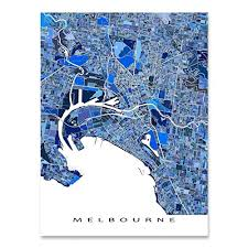 Navigate melbourne map, melbourne country map, satellite images of melbourne, melbourne largest cities, towns maps, political map of melbourne, driving directions, physical, atlas and traffic maps. Amazon Com Melbourne Map Print 8x10 Melbourne Australia City Art Poster 24x36 Handmade Blue Geometric Melbourne Gifts And Souvenirs By Maps As Art Handmade