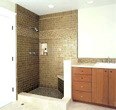 small shower tile ideas design bathroom surprising designs white wall corner