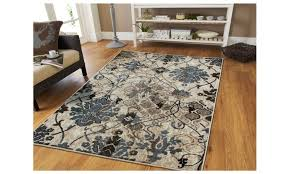 elegant medium 5 8 modern distressed area rug blue beige area rug fl blue area rugs 5 8 designs