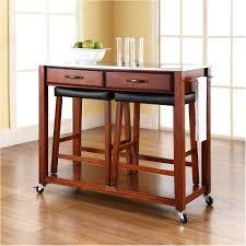wonderfull elegant kitchen island cart with stools Custom Kitchen
