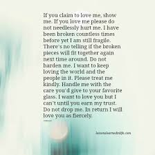 Love Me Quotes New Lessons Learned In LifeIf You Claim To Love Me Show Me Lessons