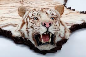 tiger rug fake
