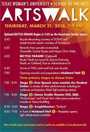 Art Event Flyer 2016 Event Flyer Twu Visual Arts Texas Womans University