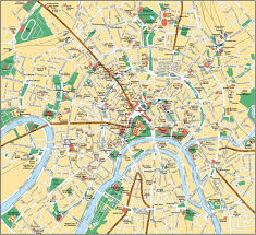 large moscow maps for free download and print  highresolution