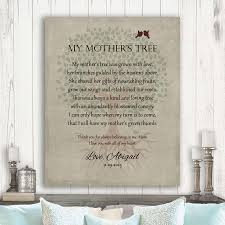 poem for mother gift for mom mother s day gift gift from daughter tree with roots personalized poem gift custom art print lt 1142