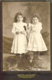 TWIN Curly Haired SISTERS and Family DOG Esther and Pearl   Etsy   Little  girl photos, Vintage dog, Vintage photos
