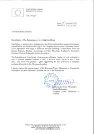 endorsement letter for eurosphere from the european please see attached the endorsement letter from mr bruno angelet ambassador of the european union to vietnam