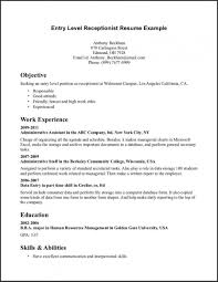 Receptionist Resume Sample Best Of Resume Templates Receptionist