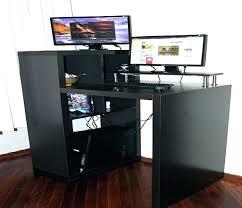 black computer desk small brown corner ikea furniture seattle for bedroom blac
