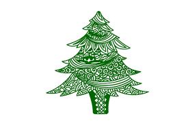 Zentangle Christmas Tree Svg Cut File By Creative Fabrica Crafts Creative Fabrica