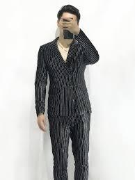 Suit Coat Pant Design Best Price 4622 Stripe Suit Male Mans Suit Coat Pant