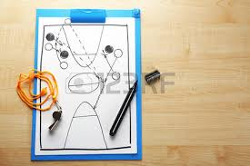 Wooden Basketball Game Scheme Basketball Game On Sheet Of Paper And Wooden Table 46