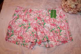 Lilly Pulitzer Greens Pinks Pink Colony Callahan Shorts Size 6 S 28 20 Off Retail