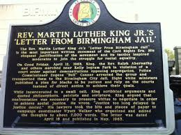 Historical marker dedicated for 'Letter from Birmingham Jail ...