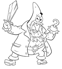 Small Picture Patrick Be a Pirate Coloring Page Coloring Page Pinterest