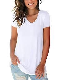 SAMPEEL <b>Women's</b> Basic V Neck Short Sleeve T <b>Shirts Summer</b> ...