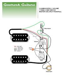 Wiring Diagrams For Split Humbuckers 1 Volume 1 Tone Coil Tap Wiring-Diagram