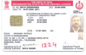 Document Is On Number Which Licence Indentifier Driving