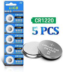 LiCB <b>CR1220 Battery 3V</b> Lithium <b>5PCS</b> for: Amazon.co.uk: Electronics