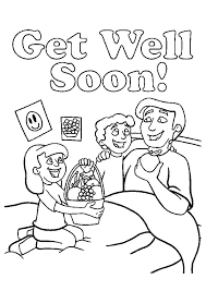 Get Well Soon Printable Coloring Pages Get Well Soon Coloring Page