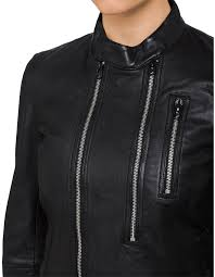hybrid archive slim leather biker jacket 1