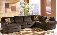 ashley furniture vista chocolate casual 3 piece sectional with within ashley furniture peoria il 34ewhdcnfgtoy8476c8ufe