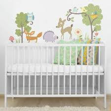 woodland animals wall decals on baby room wall decor stickers with nursery wall decals nursery wall stickers roommates
