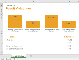 Raj Excel Credit Card Payoff Calculator Excel Template