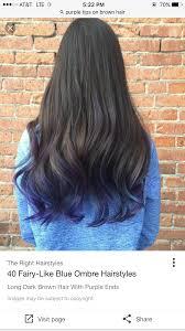 Blue Dip Dye On Light Brown Hair Purple Tips Subtle Blue Tips Hair Hair Styles Hair Dye Tips