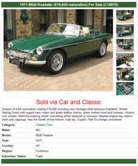 Car For Sale Sign Examples Free Private Or Trade Classic Car Advert Www Carandclassic Co Uk