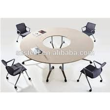 Round Office Folding Table With Wheels Foldable Table Office