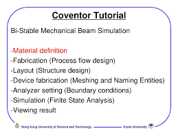 Fabrication Design Definition Ppt Coventor Tutorial Powerpoint Presentation Free