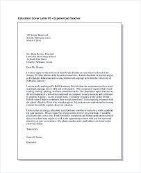 Education Cover Letter for Experienced Teacher