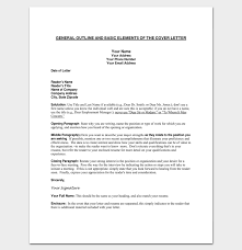 General Cover Letter Format Unique Cover Letter Outline Template 40 Samples Examples Formats