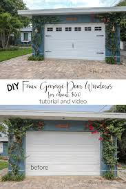 how to make faux garage door windows