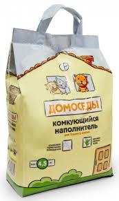Домоседы комкующийся <b>наполнитель для кошачьего туалета</b>, 4 ...