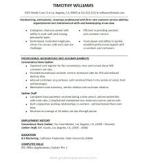 Sample Resume For Cashier