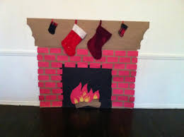 how to make a fake fireplace out of paper